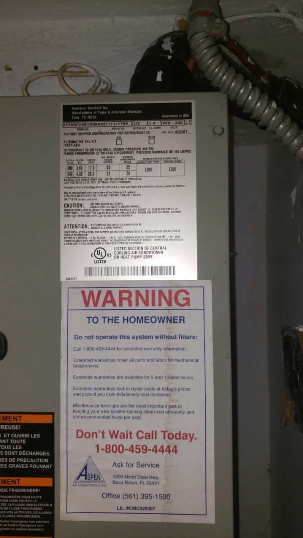 Sunrise, FL - A/c bad expansion valve