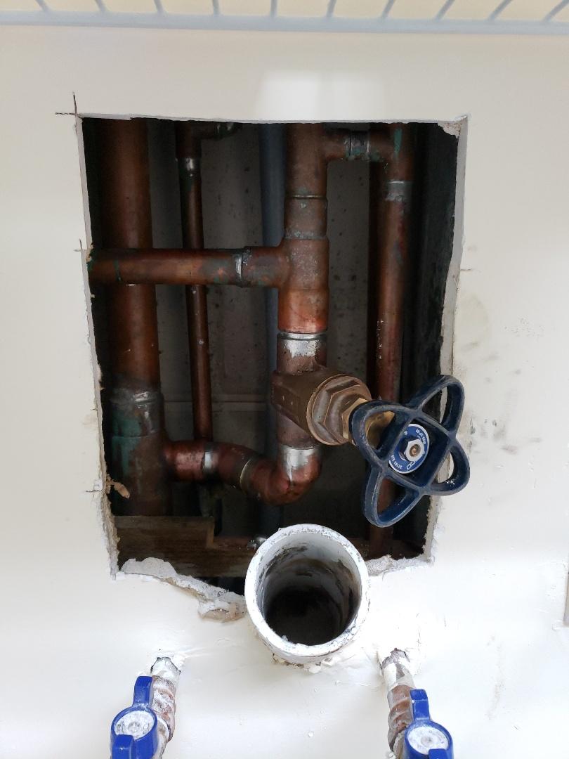 Main shut off valve replacement