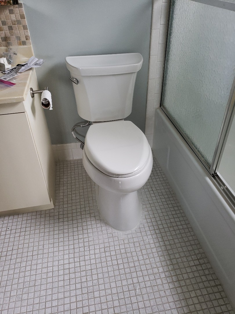 Master bath toilet installation