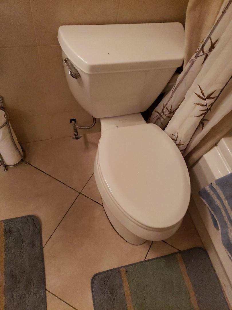 Toilet leaks to apartment below