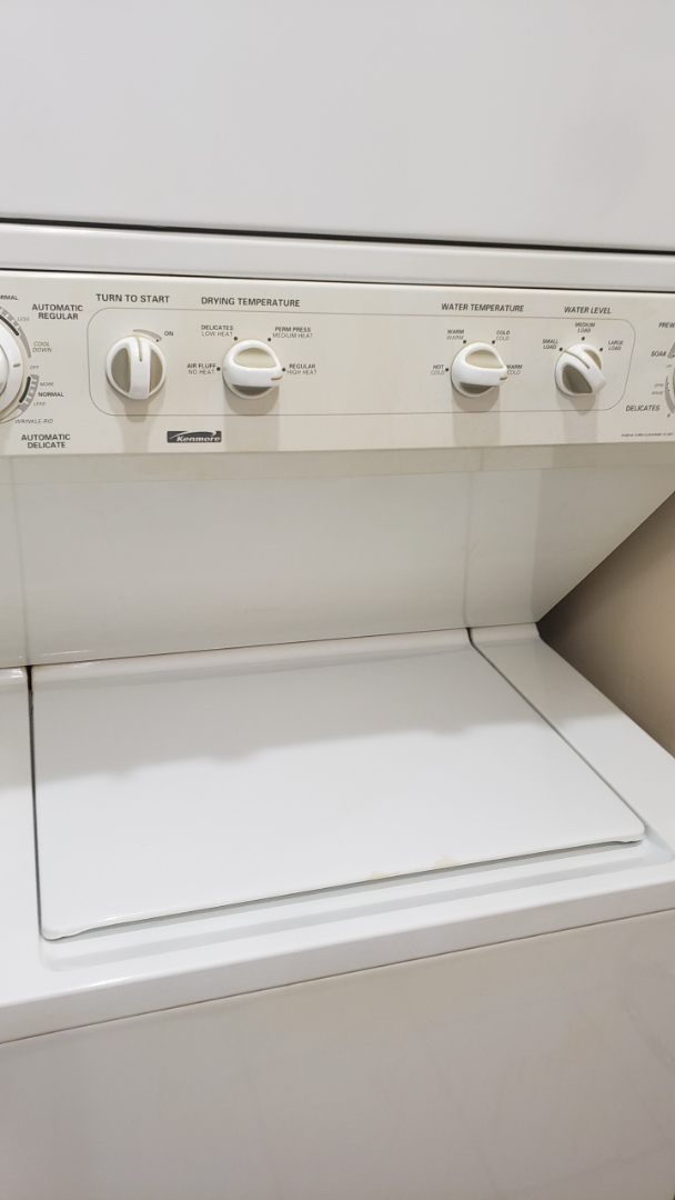 KENMORE  STACK WASHER  REPAIRED