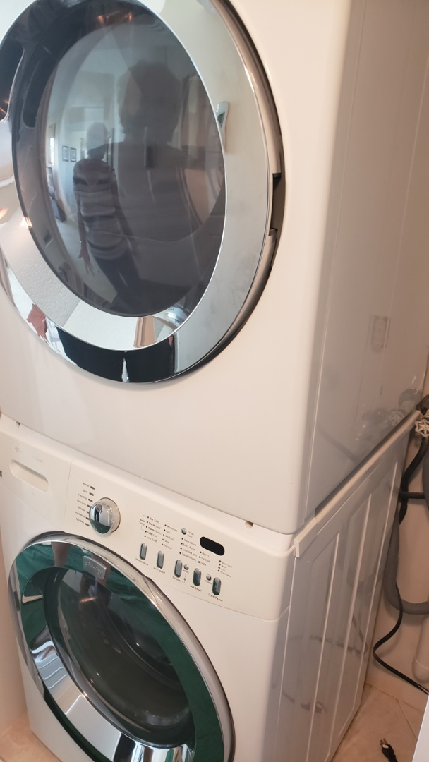 FRIGIDAIRE WASHER STACK REPAIRED