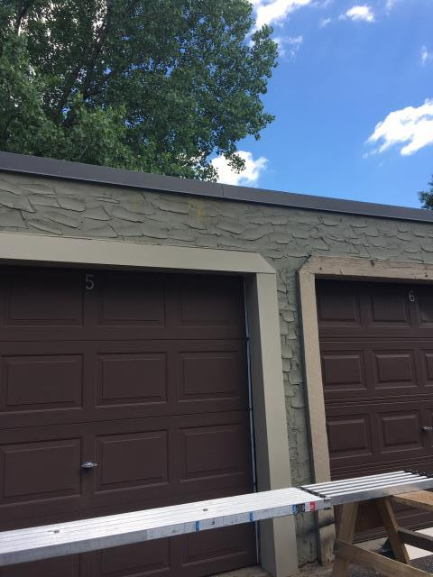 Today, we are working on garage work and completing siding work.