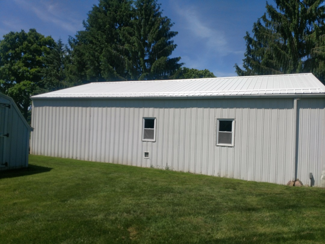 Galion, OH - Finishing up new metal roof job