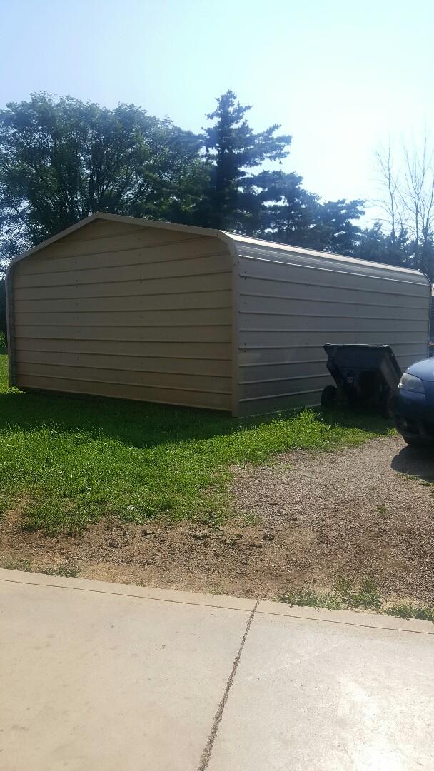 Lodi, OH - New garage metal roof
