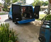 Lauderhill, FL - Mary Khoury Residence Picking up dry out equipment