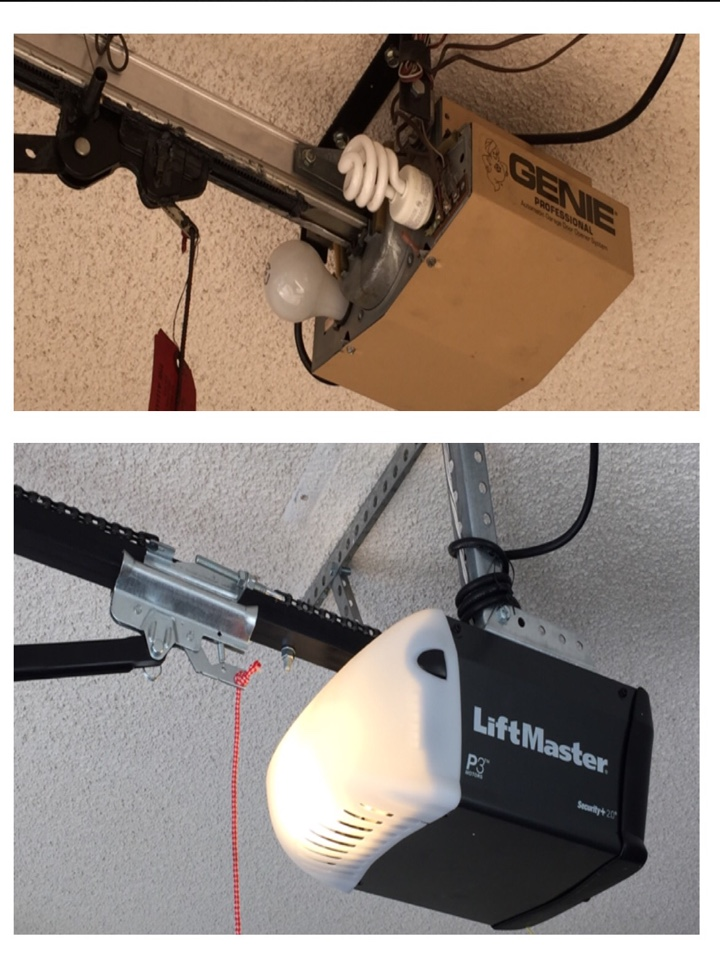 Sun City West, AZ - Removed old Genie motor and installed a new Liftmaster, ran all new wire and did a tune and lube on the door.