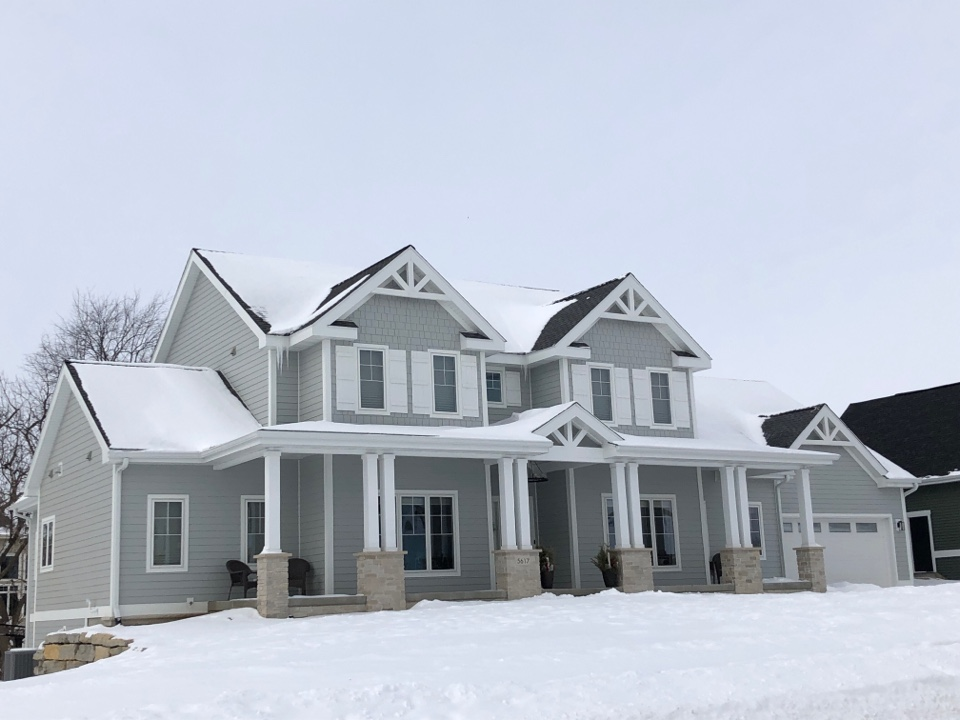 Waunakee, WI - Checking in on some recently finished projects. Siding: James Hardie Light Mist