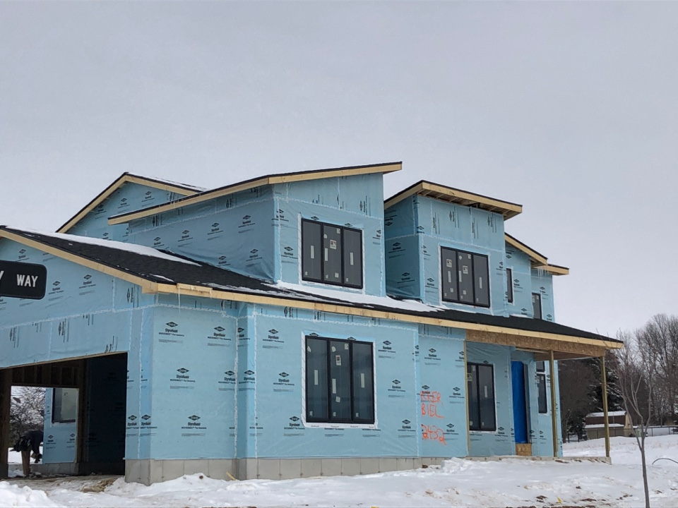 Waunakee, WI - Finished the roof on this new construction home right before the frigid temperatures.