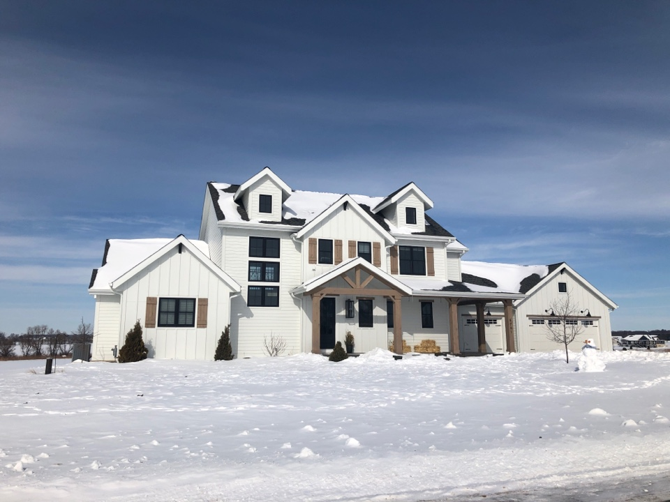Sun Prairie, WI - Our spring 2020 parade home still looking good in the winter of 2021