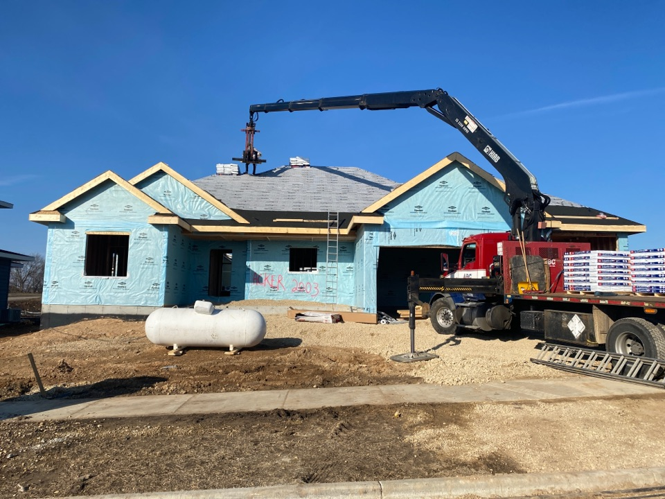 Cottage Grove, WI - Second roofing project in 2 days under way!
