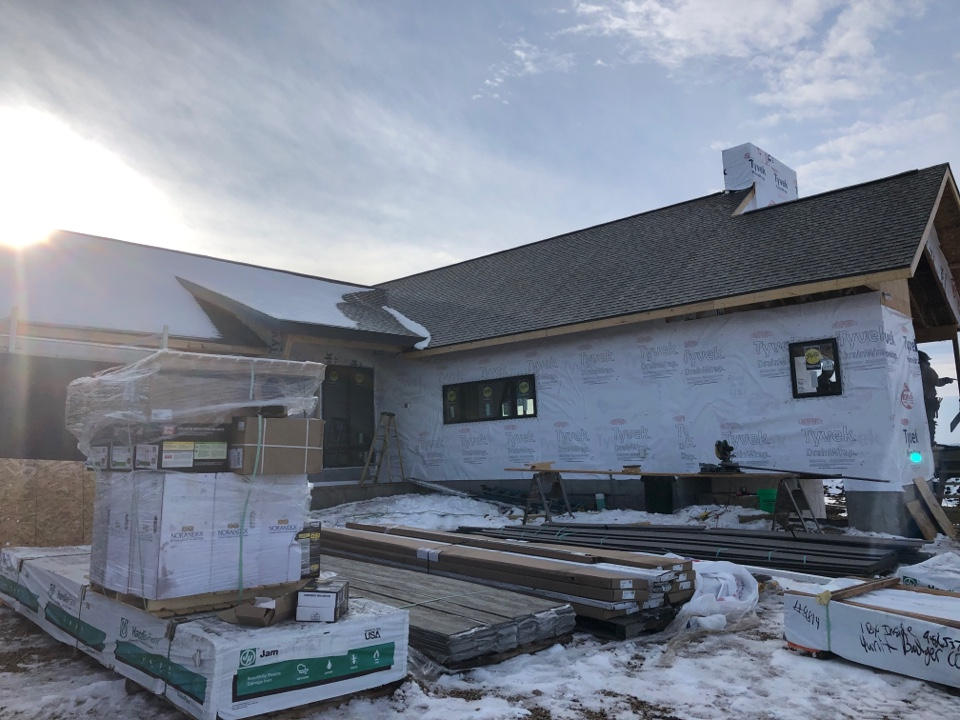 Verona, WI - Preparing to start siding another James Hardie house. Excited to add some Artisan V-Groove to this one.