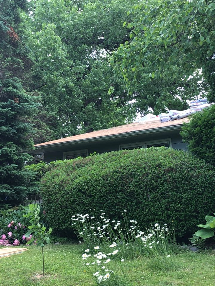Madison, WI - Reroof day! Shingles off, time to start putting back on a roof. GAF Timberline HDZ Shakewood coming soon!
