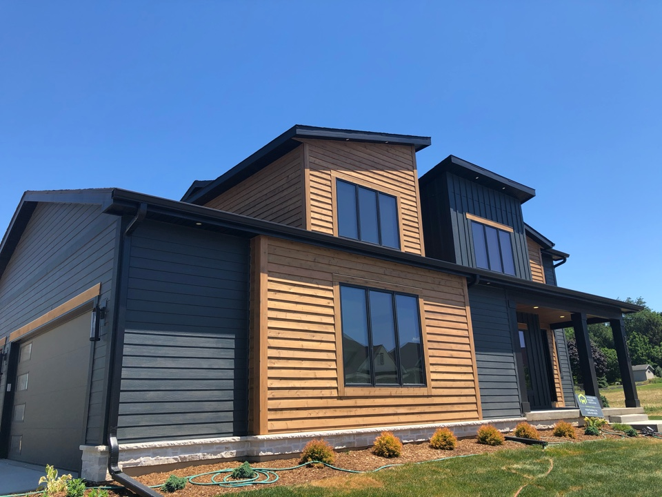 Waunakee, WI - Parade of Homes starting today. James Hardie Shou Sugi Ban and cedar accents.