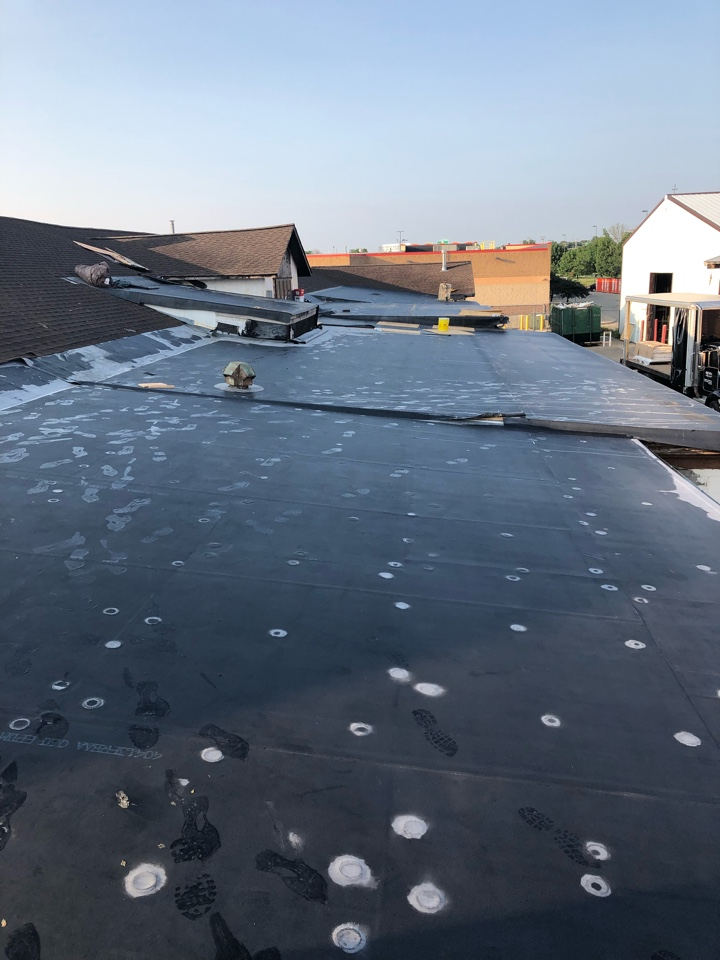 Madison, WI - Starting to work details on EPDM flat roof.