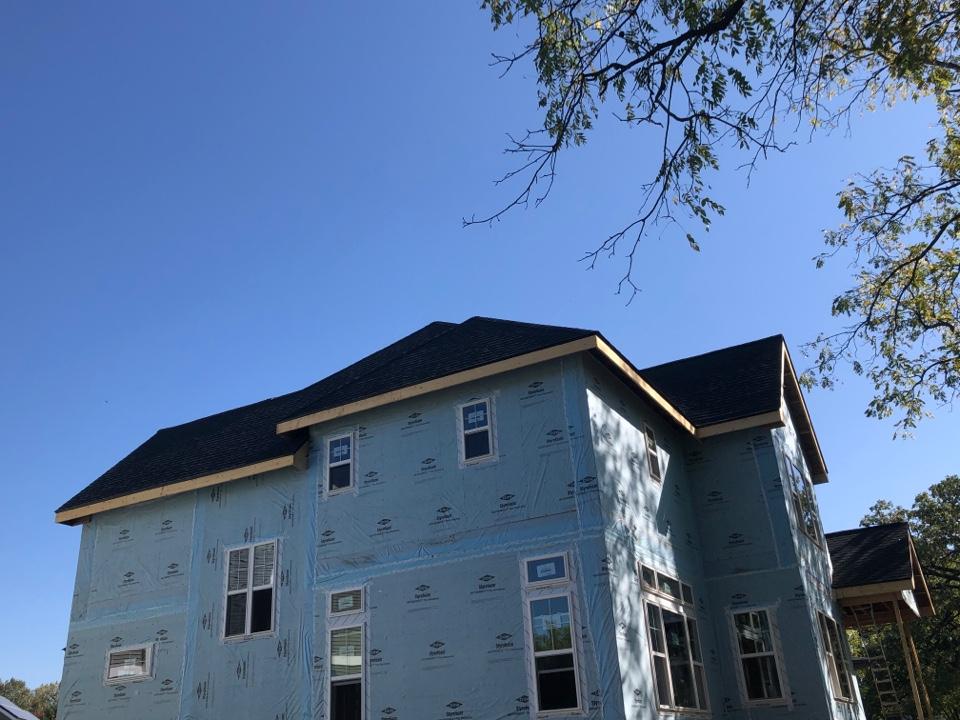 Verona, WI - Roof is done in GAF Timberline HDZ Charcoal shingles. GAF Golden pledge warranty