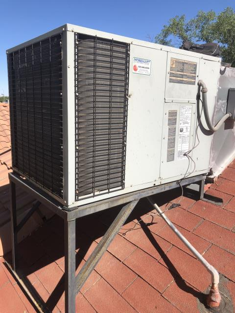 Peoria, AZ - Performing preventative maintenance in Peoria on a 2007 Trane package heat pump system . System running to its standards .