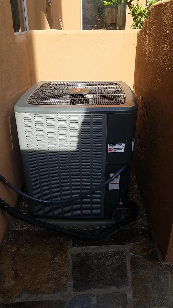 Scottsdale, AZ -  Installed new 16 Seer Amana gas split system