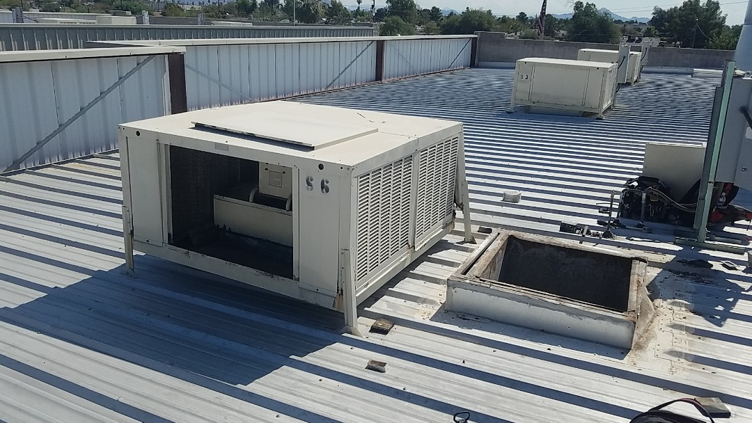 Glendale, AZ - Changing out an existing evap cooler