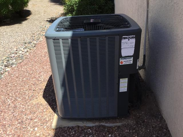 Sun City West, AZ - In Sun City West servicing a newer Amana we put in 2 Years ago everything is running good. Changed the filter and cleaned out the furnace and condenser.