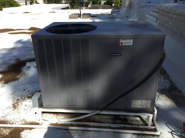 Phoenix, AZ - In Phoenix performing a tune up on a newer Carrier system. The system is running flawlessly no issues. Changed the filter tightened the electrical connections and washed the outdoor coil.