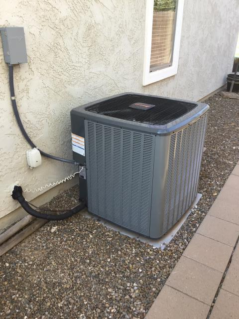 Surprise, AZ - In the city of Surprise performing a quality inspection on a newly installed Amana 4 ton 16 seer heat pump split system! Install crew did a wonderful job!