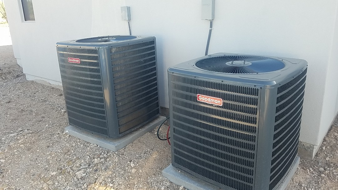 Cave Creek, AZ - In Cave Creek performing a start up of these Goodman units on a new build.
