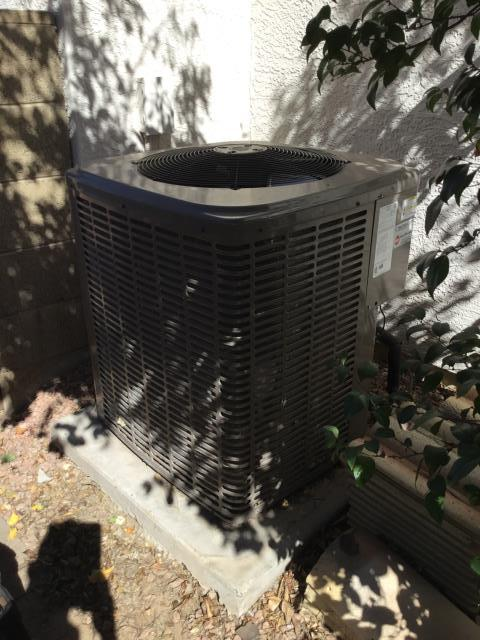 Avondale, AZ - In Avondale, performed a safety inspection to the unit, followed by an acid wash to the exterior condensing coil, and finished up with replacing the customers air filters!