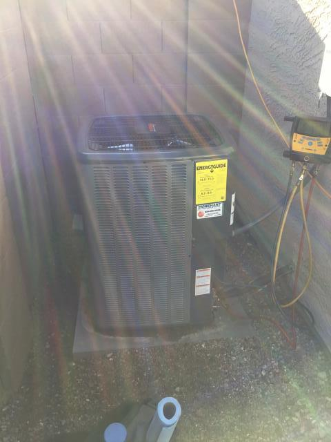 Surprise, AZ - Performing a quality inspection on a new install. Unit was install perfectly!