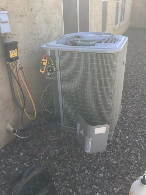 Surprise, AZ -  IN SURPRISE,AZ PERFORMING A MAINTENANCE SERVICE AND 70/5 CAPACITOR HAS FAILED AND NEEDS TO BE REPLACED. FILTERS ARE NOT BEING CHANGED ENOUGH TO SYSTEM. THEY HAVE TO BE CHANGED MONTHLY AND IT APPEARS LIKE WE WERE THE LAST ONE TO CHANGE THEM IN JULY. THERE IS HEAVY BUILD UP IN DUCTING AND GRILLS DUE TO THIS. RECOMMEND DOING AND DUCT CLEANING INSTALLING A 5 INCH FILTRATION SYSTEM AT FURNACE THAT ONLY NEEDS TO BE CHANGED ONCE A YEAR.
