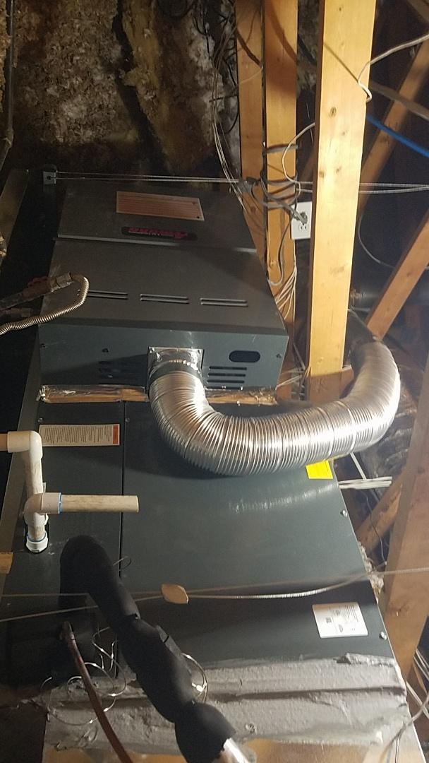 Peoria, AZ - Installed new amana 16 seer gas split in Peoria, AZ