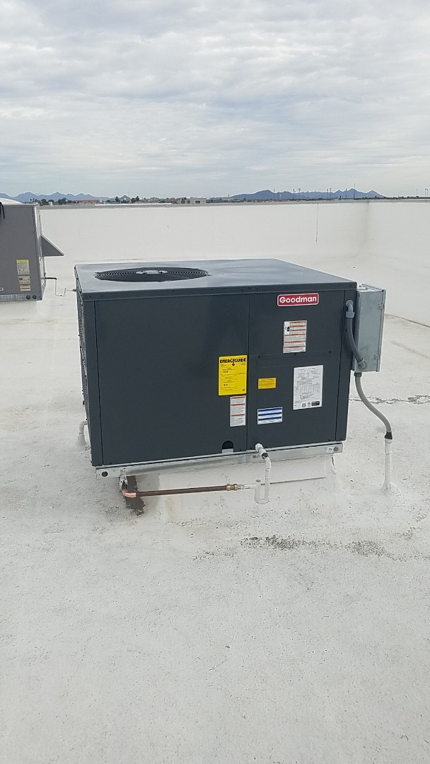 Peoria, AZ - Installing new heat pump package unit in Peoria az