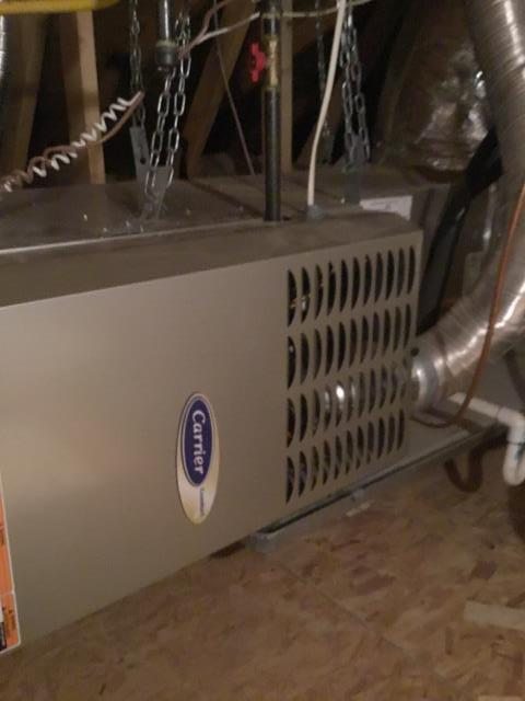 Buckeye, AZ - In Sun City Festival, performing a safety inspections on a Carrier furnace!