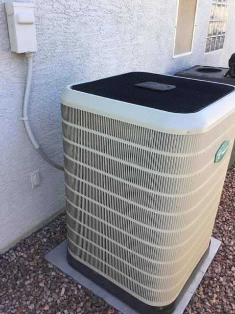 Surprise, AZ - In Surprise, AZ:  UPON ARRIVAL CYCLED UNIT INTO COOLING MODE. LEFT HOMEOWNER WITH INTAKE FILTERS AND TOOK TEMPERATURE READINGS FROM SUPPLY AND RETURN. AT UNIT CLEANED AND TIGHTENED ELECTRICAL CONNECTIONS. TOOK VOLTS AND AMP DRAWS FROM COMPONENTS. UPON DEPARTURE UNIT WORKING PROPERLY AND WITHIN MANUFACTURER SPECIFICATIONS.