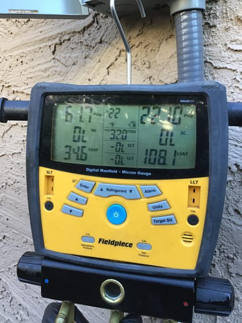 Phoenix, AZ - In Phoenix, AZ:  Upon arrival cycled systems. Upstairs system is low on Freon due to an ongoing leak in evaporative coil. Recommend replacement of system. Customer is selling house wants the most cost effective repair. No warranty on Freon. Serviced systems in accordance with maintenance checklist. Services completed.