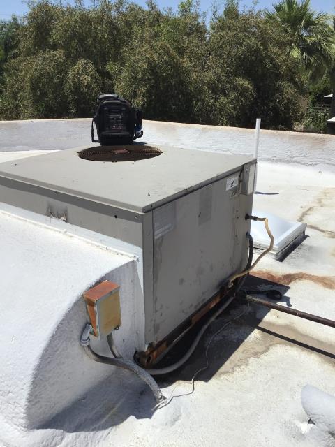Phoenix, AZ - In Phoenix, AZ:  Preventative Maintenance on rooftop unit.
