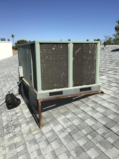 Phoenix, AZ - In Phoenix, AZ:  MOREHART AC TO INSTALL AND FURNISH 5 TON PACKAGE HEAT PUMP SYSTEM. TO INCLUDE NEW DISCONNECT, WHIP KIT, DRAIN LINE, ELBOW 39.5/21.5/2.5, STAND 4/12, ECOBEE THERMOSTAT, AND ISO PADS. TO HOOK UP TO EXISTING LOW VOLT, HIGH VOLT, AND DUCTING. PRICE COVERS TAX, INSTALLATION, CRANE, AND REMOVAL OF EXISTING EQUIPMENT. Installation set for Wednesday with a 8-10am arrrival. Job financed. Last name needs to be updated.