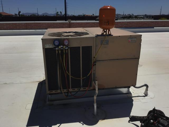 Glendale, AZ - In Glendale, AZ:  UNIT #1 NEEDS NEW 10/440 CAPACITOR AND 2 POUNDS OF R22 FREON.  UNIT #4 10 POUNDS OF FREON.  INSTALLED CAPACITOR AND SET FREON CHARGE ON BOTH SYSTEMS ALL COMPLETE ON REPAIRS.