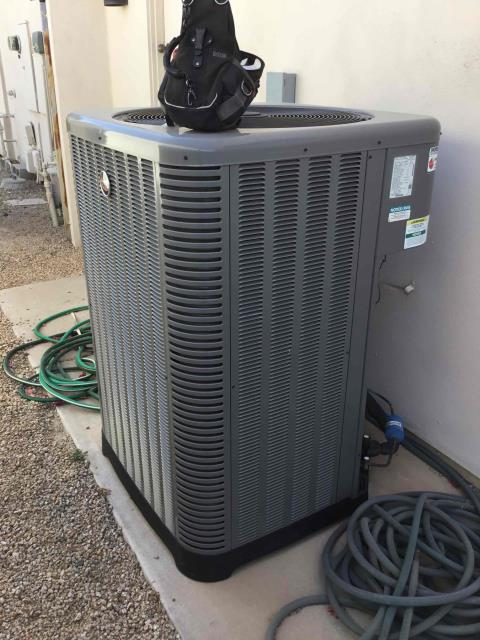 Scottsdale, AZ - In Scottsdale, AZ:  UPON ARRIVAL CYCLED UNIT INTO COOLING MODE. REPLACED INTAKE FILTERS AND TOOK TEMPERATURE READINGS FROM SUPPLY AND RETURN. AT UNITS CLEANED AND TIGHTENED ELECTRICAL CONNECTIONS. TOOK VOLTS AND AMP DRAWS FROM COMPONENTS. CHECKED FREON LEVELS WITH SUPER HEAT AND SUBCOOL. UPON DEPARTURE UNIT WORKING PROPERLY AND WITHIN MANUFACTURER SPECIFICATIONS.