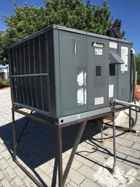 Phoenix, AZ - In Phoenix, AZ:  SERVICE COMPLETED ON GAS PACKAGE SYSTEM. UPON ARRIVAL CYCLED UNIT INTO COOLING MODE. REPLACED 16x20 INTAKE FILTER. TOOK TEMPERATURE READINGS FROM SUPPLY AND RETURN. AT UNIT CLEANED AND TIGHTENED ELECTRICAL CONNECTIONS. TOOK VOLTS AND AMP READINGS FROM COMPONENTS. CHECKED FREON LEVELS AND CAPACITORS. CLEANED AND WASHED CONDENSING COILS. UPON DEPARTURE UNIT WORKING PROPERLY AND WITHIN MANUFACTURER SPECIFICATIONS.