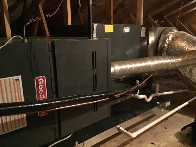 Buckeye, AZ - In Buckeye, AZ:  Quality inspection on new install of a 3.5 ton Goodman gas split system.
