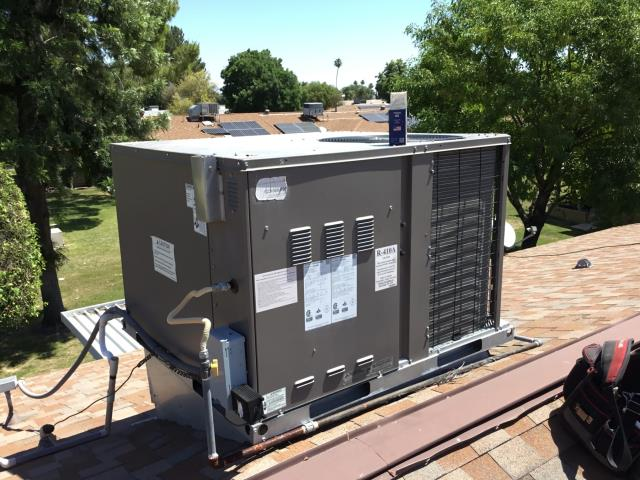 Sun City, AZ - In Sun City, AZ:  Sun City, AZ 85351 USA Service Location  10202 West Royal Oak Road SILVER MEMBER 10202 West Royal Oak Road Sun City, AZ 85351 USA Invoice Summary	CYCLED SYSTEM ON IN COOLING. CHECKED VOLT AND AMP DRAWS, ALL IN FACTORY SPECIFICATION. CLEANED AND TIGHTENED ELECTRICAL CONNECTIONS. CHECKED FREON LEVELS AND PRESSURES, ALSO IN FACTORY SPECIFICATION. (SEE COOLING CHECKLIST FOR DETAILS). ACID WASHED OUTDOOR COIL AND RINSED. WASHED AND DRIED AIRCARE FILTER AND RE-INSTALLED. CHECKED SPLITS, RETURN 78 SUPPLY 58. WARRANTIED OUT 40/5/440 RUN CAPACITOR FROM U.S AIR.