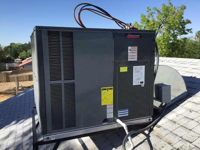 Peoria, AZ - In Peoria, AZ:  CHECKED STAND AND ELBOW BOTH INSTALLED PROPERLY AND SEALED. CHECKED DISCONNECT AND WHIP, INSTALLED AND TIGHT WITH FUSES. PVC DRAIN LINE RAN OFF ROOF AND GLUED. SYSTEM IS LEVEL AND SEALED. CYCLED SYSTEM ON IN COOLING, ALL WORKING PROPER. THERMOSTAT IS TIGHT AND CLEAN. INSTALL LOOKS GOOD AND IS WORKING PROPER.