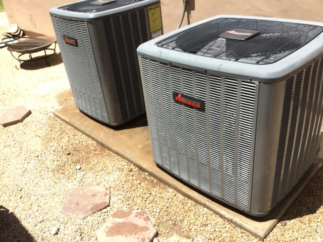 Scottsdale, AZ - In Scottsdale, AZ:  CYCLED DOWN STAIRS SYSTEM ON IN COOLING. CHECKED VOLT AND AMP DRAWS, ALL IN FACTORY SPECIFICATION. CLEANED AND TIGHTENED ELECTRICAL CONNECTIONS. CHECKED FREON LEVELS AND PRESSURES, ALSO IN FACTORY SPECIFICATION. (SEE COOLING CHECKLIST FOR DETAILS). ACID WASHED OUTDOOR COIL AND RINSED. CHANGED RETURN AIR FILTER AND CHECKED SPLITS, RETURN 80 SUPPLY 61. SYSTEM IS RUNNING PROPER AT THIS TIME.  CYCLED UP STAIRS SYSTEM ON IN COOLING. CHECKED VOLT AND AMP DRAWS, ALL IN FACTORY SPECIFICATION. CLEANED AND TIGHTENED ELECTRICAL CONNECTIONS. CHECKED FREON LEVELS AND PRESSURES, ALSO IN FACTORY SPECIFICATION. (SEE COOLING CHECKLIST FOR DETAILS). ACID WASHED OUTDOOR COIL AND RINSED. CHANGED RETURN AIR FILTER AND CHECKED SPLITS, RETURN 80 SUPPLY 6n1. WARRANTIED OUT 40/5/440 RUN CAPACITOR.