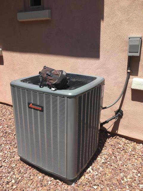 Peoria, AZ - In Peoria, AZ:  UPON ARRIVAL CYCLED UNIT INTO COOLING MODE.  TOOK TEMPERATURE READINGS FROM SUPPLY AND RETURN. AT UNIT CLEANED AND TIGHTENED ELECTRICAL CONNECTIONS. TOOK VOLTS AND AMP DRAWS FROM COMPONENTS. CHECKED FREON LEVELS WITH SUPER HEAT AND SUBCOOL. WASHED AND RINSED OUTDOOR COILS. UPON DEPARTURE UNIT WORKING PROPERLY AND WITHIN MANUFACTURER SPECS.