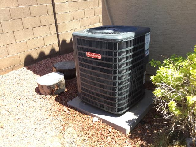 Litchfield Park, AZ - In Litchfield Park, AZ:  Cycled system on in cooling. Checked volt and amp draws, all in factory specifications. Cleaned and tightened electrical connections. Checked Freon levels and pressures, also in factory specification. Acid washed outdoor coil and rinsed. Changed return air filter and checked splits, return 80 supply 60. System is running properly at this time.