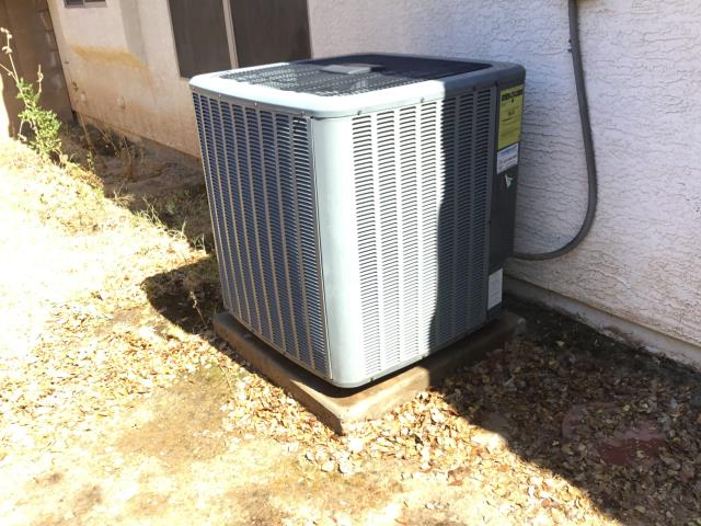 Avondale, AZ - In Avondale, AZ:  Cycled system on in cooling, checked volt and amp draws, all within factory specs. Cleaned and tightened electrical connections. Checked Freon levels and pressures, also in factory specification. Acid washed outdoor coil and rinsed. Changed return air filter and checked splits, return 74 supply 54. System is running properly at this time.