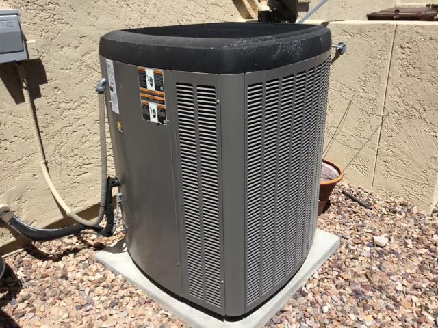 Peoria, AZ - In Peoria, AZ:  On arrival, found system low on R310A refrigerant. Need to do a leak search. Performed a leak search and found indoor coil leaking oil in the pan and got 3 hits there. Needs new indoor coil. Customer stated that system has warranty. Need to call Lennox on Monday for warranty and part availability.