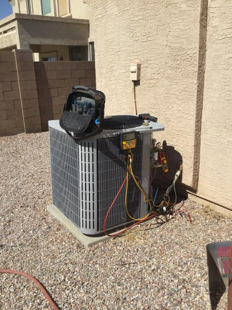 Casa Grande, AZ - In Casa Grande, AZ:  Completed service in accordance with maintenance checklist. Customer has concerns with master air flow supply; recommend adding a supply and return into room. In addition, system is getting older, now 16 years old, recommend monitoring and budgeting for replacement.