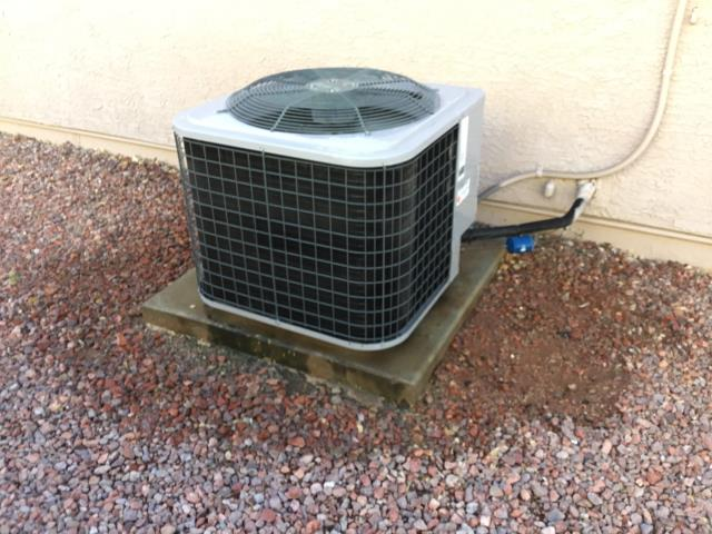 Glendale, AZ - In Glendale, AZ:  CYCLED SYSTEM ON IN COOLING. CHECKED VOLT AND AMP DRAWS, ALL IN FACTORY SPECIFICATION. CLEANED AND TIGHTENED ELECTRICAL CONNECTIONS. CHECKED FREON LEVELS AND PRESSURES, ALSO IN FACTORY SPECIFICATION. (SEE COOLING CHECKLIST FOR RATINGS AND DETAILS). ACID WASHED OUTDOOR COIL AND RINSED. GAVE CUSTOMER 20x30 RETURN AIR FILTER CUSTOMER JUST CHANGED FILTER. CHECKED SPLITS, RETURN 76 SUPPLY 56. SYSTEM IS RUNNING PROPER AT THIS TIME. ALL COMPLETE.